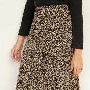 NWT old navy leopard midi skirt